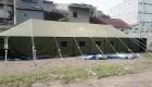 Stok tenda bencana tsunami
