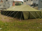 Produksi tenda bencana jumlah banyak