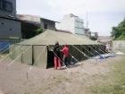 Stok tenda pengungsi gempa